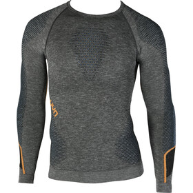UYN Ambityon Melange UW Longsleeve Shirt Heren, black melange/atlantic/orange shiny